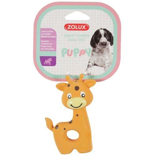 Zolux GIRAFFE latexová hračka pro štěňátka 7,5x3,5x10cm