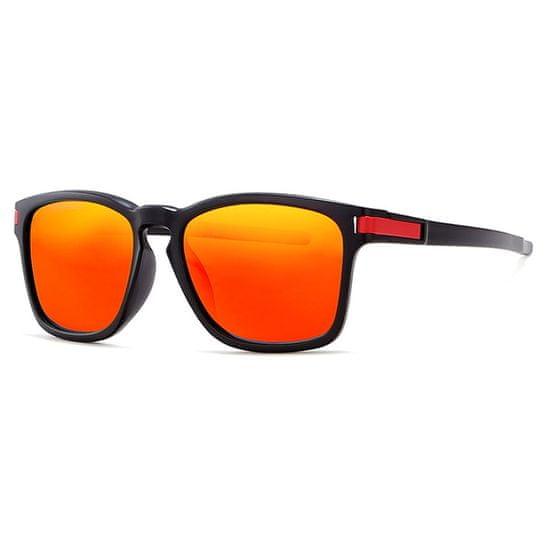 KDEAM Mandan 4 slnečné okuliare, Black / Red