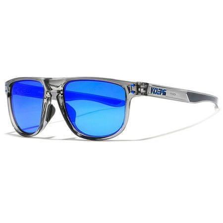 KDEAM Enfield 4 napszemüveg, Silver / Blue