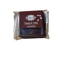 Pražírna Drahonice Tmavá 70% čokoláda s kávou
