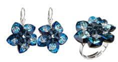 Evolution Group Zvýhodnená sada šperkov Bermuda Blue striebro 925/1000