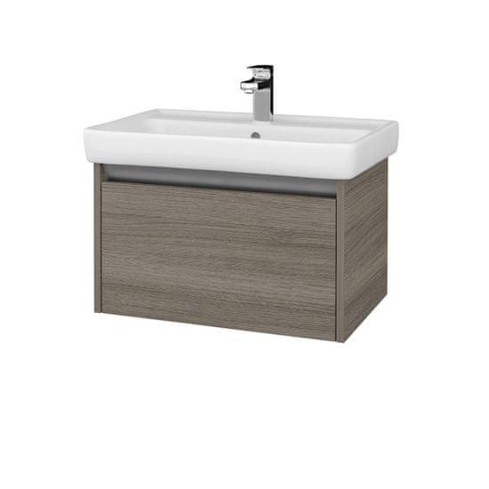 Dřevojas Koupelnová skříň BONO SZZ 70 (umyvadlo Q) - D03 Cafe / D03 Cafe (203252)