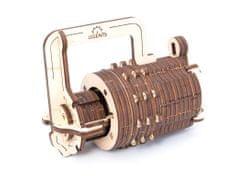 UGEARS 3D mechanické puzzle Číselný zámek 34 ks