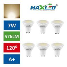 MAX-LED 10x LED žarnica – sijalka GU10 7W (55W) toplo bela 3000K