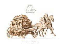 UGEARS 3D mechanické puzzle Dostavník 248 ks