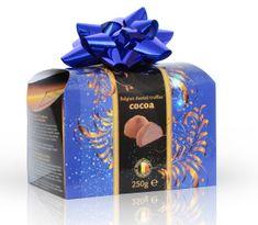Belgické čokoládové lanýže s kakaovou náplní s mašlí 250 g