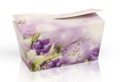 Výběr čokoládových pralinek 28 g - fialové květy
