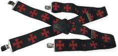 Bikersmode Kšandy 053 černé kříž červený