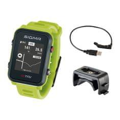 Sigma iD.TRI Basic multisportovní hodinky - neon zelená