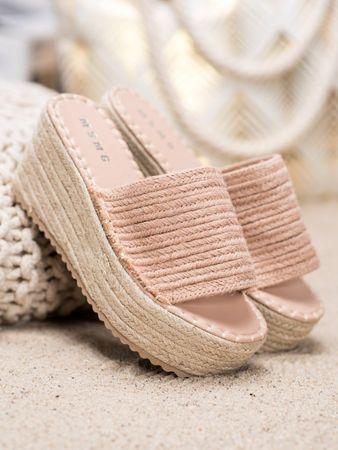 Női papucs 64782 + Nőin zokni Sophia 2pack visone, rózsaszín árnyalat, 39