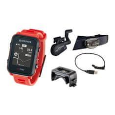 Sigma iD.TRI SET multisportovní hodinky - neon červená