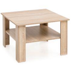 Bruxxi Konferenčný stolík Ilja, 60 cm, dub