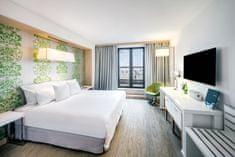 Barceló Hotel Group Romantický pobyt pro dva na 1 noc v krásném pokoji Junior Suite moderního čtyřhvězdičkového hotelu Occidental Praha Five