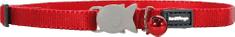RED DINGO Nylonový obojok pre mačku červený