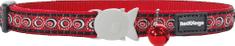 RED DINGO Nylonový obojok pre mačku RED DINGO cosmos červený