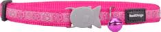 RED DINGO Nylonový obojok pre mačku RED DINGO s labkami ružový