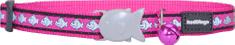 RED DINGO Reflexný nylonový obojok pre mačku ružový