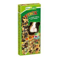 Nestor Tyčinka 3 v 1 pro velké hlodavce -svatojánský chlebíček, ořechy, zelenina 3ks 175g
