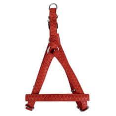 Zolux MAX LEATHER Postroj kožený červený 48x68cm/20mm pre psa od 10kg-20kg