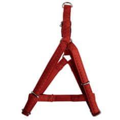Zolux MAX LEATHER Postroj kožený červený 26x38cm/10mm pre psa do 5kg
