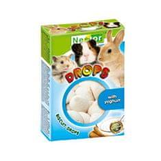 Nestor BISCUIT DROPS 35g piškoty pro hlodavce jogurtové