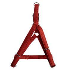 Zolux MAX LEATHER Postroj kožený červený 60x98cm/25mm pre psa od 20 do 40kg