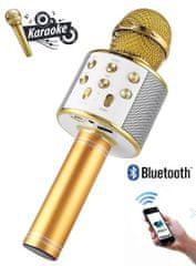 Forever BMS-300 mikrofon sa zvučnikom, zlatna