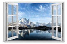 Dalenor 3D obraz Okno francouzské Alpy, 90x60 cm