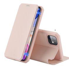 Dux Ducis Skin X knižkové kožené pouzdro na iPhone 11, ružové