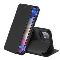 Dux Ducis Skin X usnjeni flip ovitek za iPhone 11, črna
