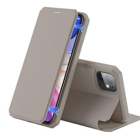 Dux Ducis Skin X bőr könyvtok iPhone 11, arany