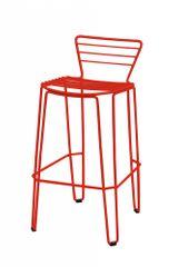 iSimar Barová židle MENORCA nízká - červená - set 2ks