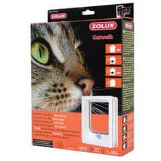 Zolux CAT DOOR TUNEL dvierka pre mačku 4 pozície zamykania 15,5x17cm biele