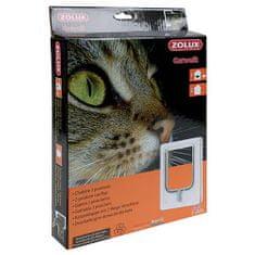 Zolux CAT DOOR dvířka pro kočku 2 pozice zamykání 15,5x17cm bílé