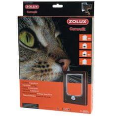 Zolux CAT DOOR dvierka pre mačku 4 pozície zamykania 15,5x17cm hnedé