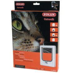 Zolux CAT DOOR dvierka pre mačku 4 pozície zamykania 15,5x17cm biele