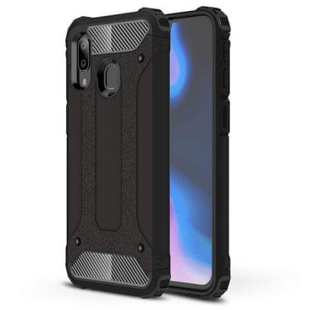 MG Hybrid Armor plastika ovitek za Samsung Galaxy A40, črna