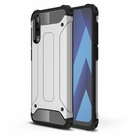 MG Hybrid Armor műanyag tok Samsung Galaxy A70, ezüst