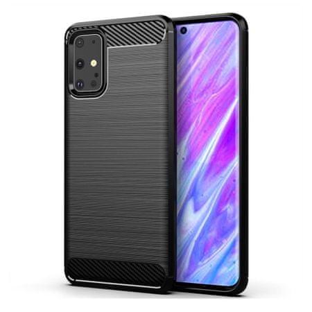 MG Carbon Case Flexible szilikon tok Samsung Galaxy S20 Ultra, fekete