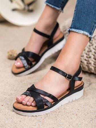 Sandały damskie 64846, czarny, 38