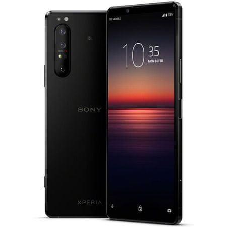Sony Xperia 1 II mobilni telefon, črn
