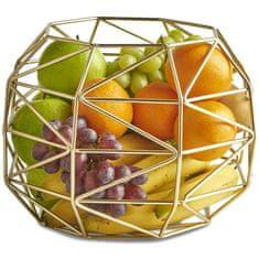 VonShef košara za sadje, zlata