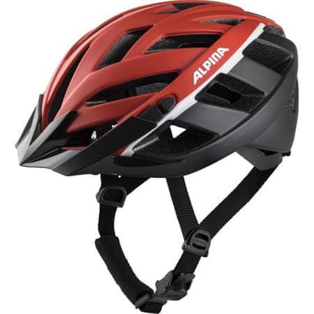 Alpina Sports Panoma 2.0 LE biciklistička kaciga, crno-crvena, 56-59