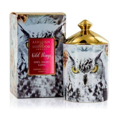 Ashleigh & Burwood Karácsonyi illatú gyertya GYŰJTEMÉNYEK - FEHÉR karácsony (fehér karácsony), 320g, NAGY ÉJSZAKA
