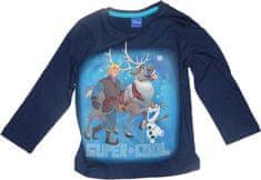 Disney Dětské tmavě modré tričko Frozen.