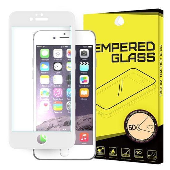 MG PRO+ 5D Full Glue ochranné sklo na iPhone 6S / 6, biele