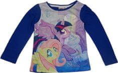 Disney Dívčí tričko s dlouhým rukávem My litte ponny modré.