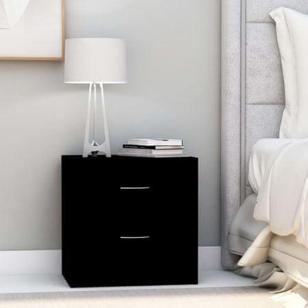 shumee 2 db fekete forgácslap éjjeliszekrény 40 x 30 x 40 cm