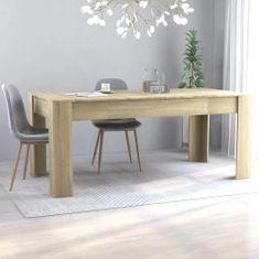 shumee Jídelní stůl dub sonoma 180 x 90 x 76 cm dřevotříska