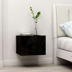 Vidaxl Noční stolky 2ks černé s vysokým leskem 40x30x30 cm dřevotříska